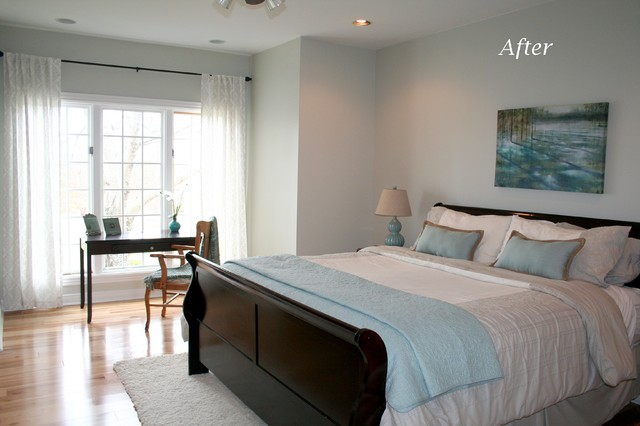Simpsonville Staging Traditional bedroom
