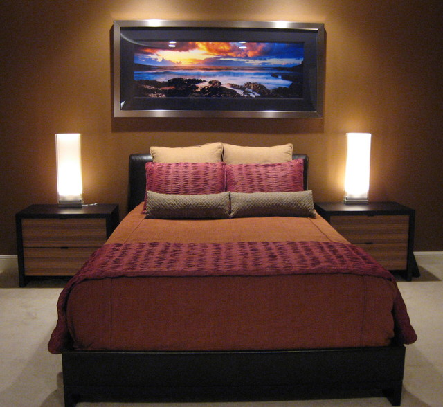 Single man 39 s contemporary bedroom contemporary bedroom for Single bedroom ideas