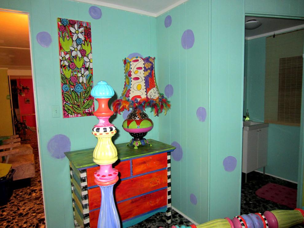 Bedroom - eclectic bedroom idea in Charlotte