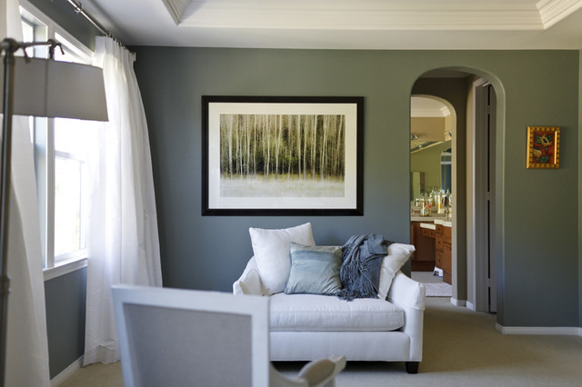 Sitting area contemporary bedroom los angeles - Small bedroom sitting area ...