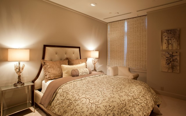 Six Walls Waterfront Condo Furnishings Project traditional-bedroom
