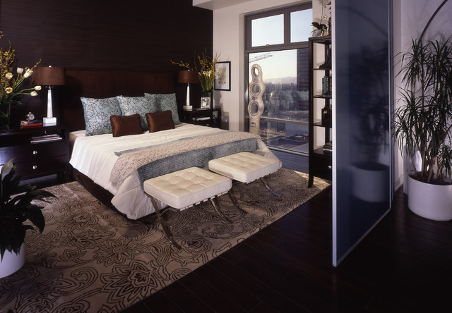 Sky Lofts, Downtown LA contemporary-bedroom