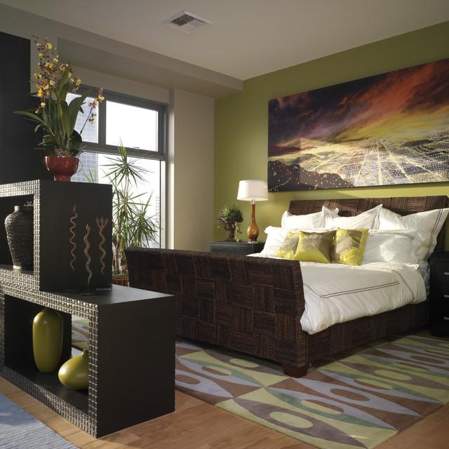 Sky Lofts, Downtown LA eclectic-bedroom