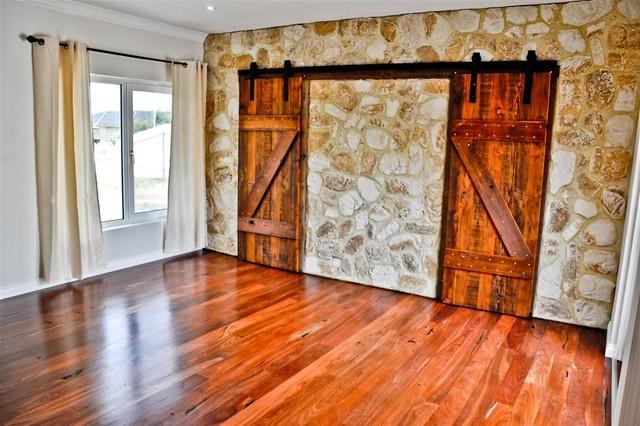 sliding barn doors traditional bedroom adelaide
