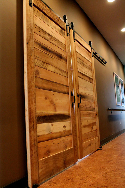 Sliding barn doors contemporary bedroom other metro for Bedroom closet barn doors