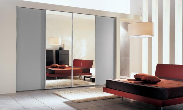 Sliding doors contemporary-bedroom
