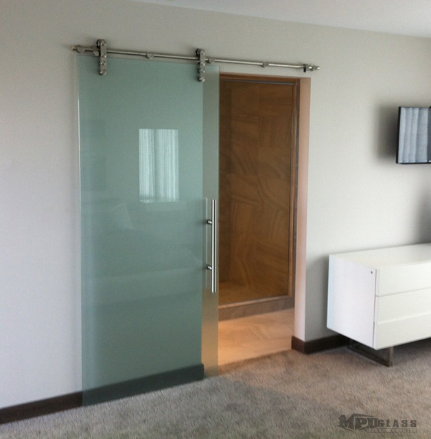 Sliding glass doors - Contemporary - Bedroom - Other - by MPD Glass u0026 Vinyl Graphics