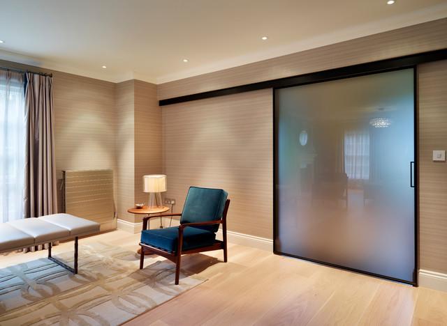 Sliding Rimadesio Door In Master Bedroom Luxury Home Full Property Remodel Contemporary