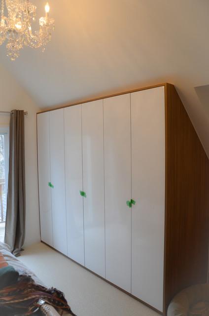 slanted ceiling closet ideas - Sloped Ceiling Mansard Wardrobe