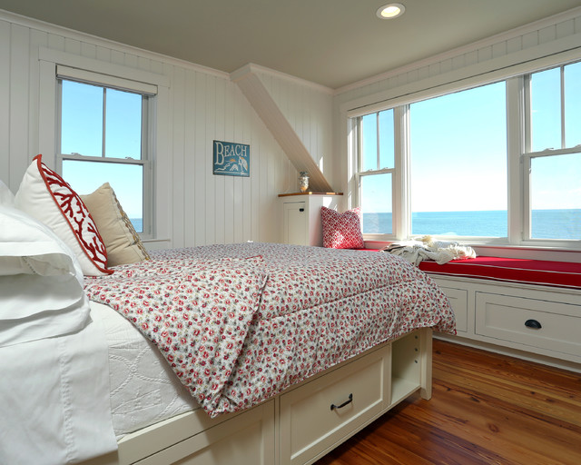 Small Beach House Lives Big - Beach Style - Bedroom - Boston ...