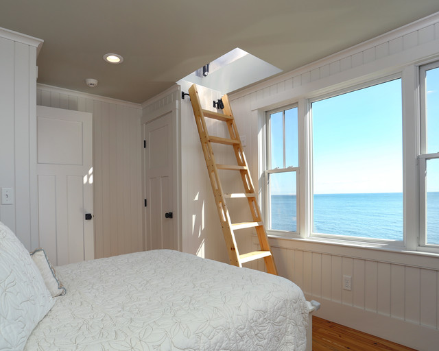 Small Beach House Lives Big - Beach Style - Bedroom - Boston - by ...
