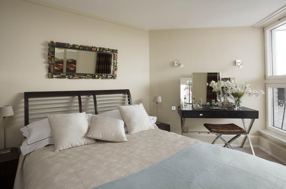 Inspiration for a modern bedroom remodel in London