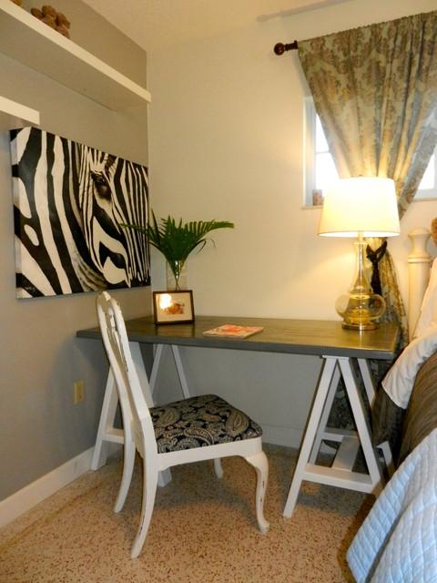 small desk contemporary bedroom