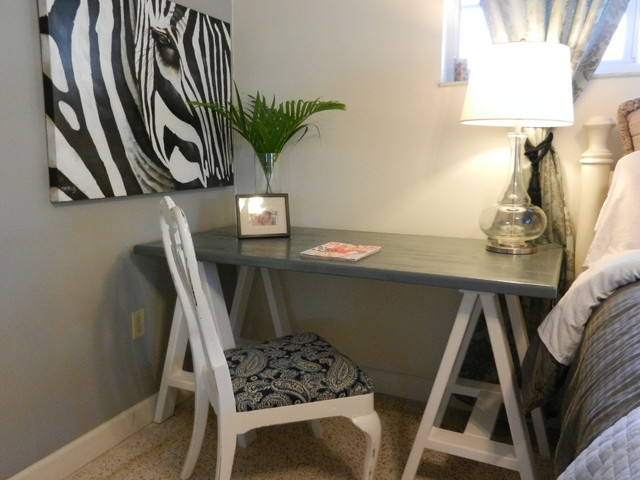 Small Desk Traditional Bedroom Tampa by Custom