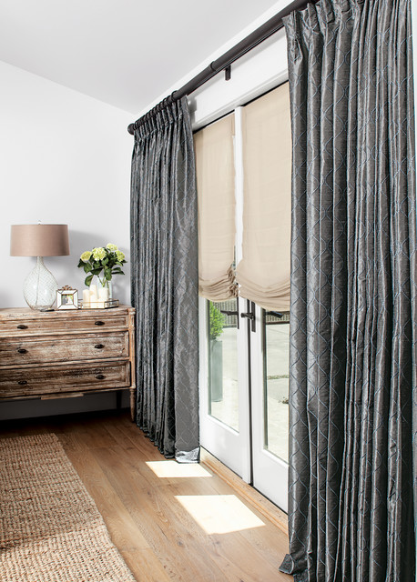smith noble curtains drapery rustic bedroom los angeles by smith noble. Black Bedroom Furniture Sets. Home Design Ideas