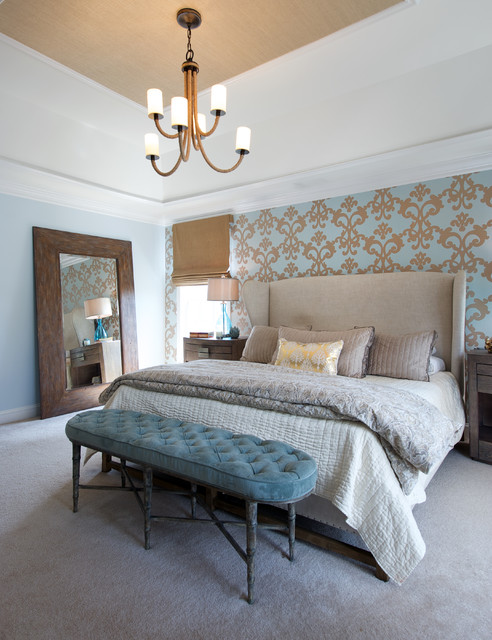 Soft And Sophisticated Master Bedroom Retreat Beach Style Bedroom Dc Metro By Olamar