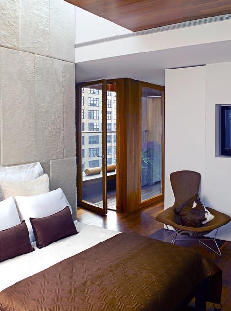 soho penthouse modern bedroom