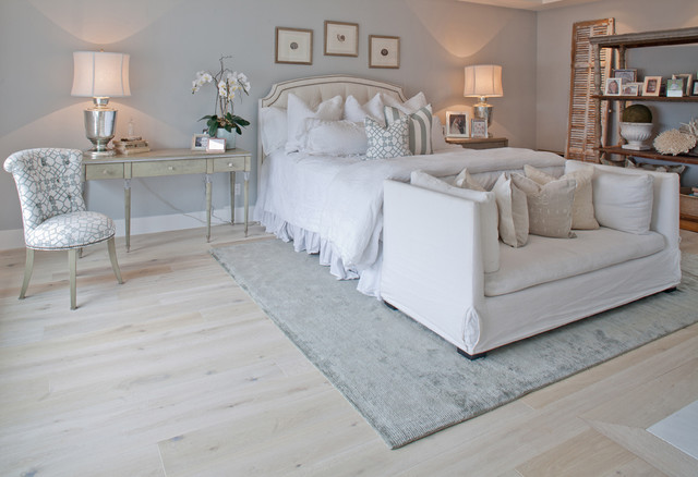 Solid French Wire Brushed White Oak Traditional Bedroom