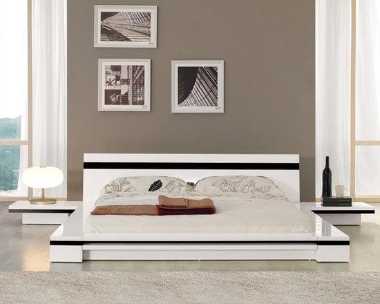 Sonata - Platform Bed in White - Features
