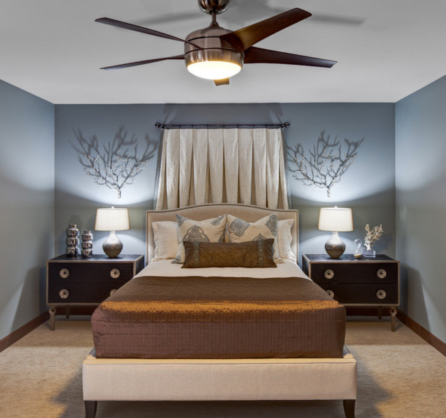 Soothing city bedroom contemporary bedroom chicago for Soothing bedroom designs