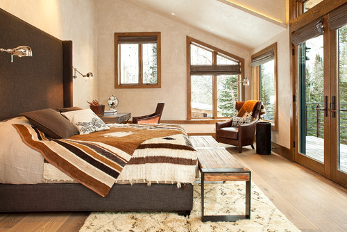 Sophisticated Bedroom with Mountain Views