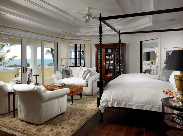 Sophisticated key west style traditional bedroom for Key west style kitchen designs