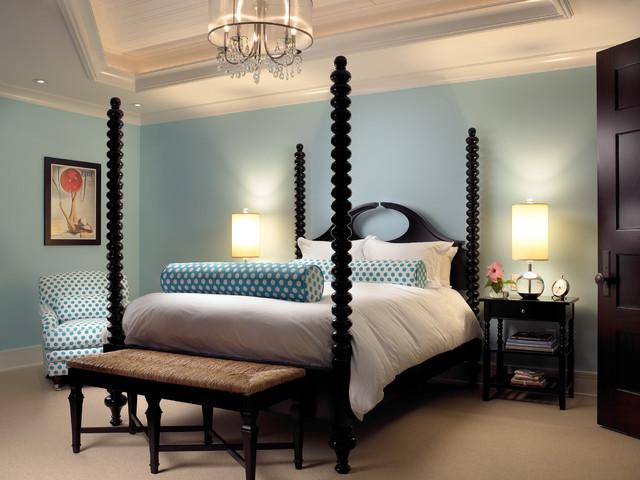 Sophisticated Key West Style traditional bedroom