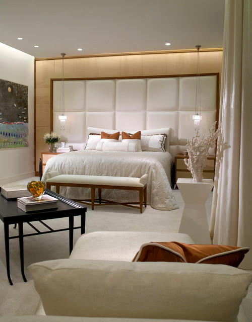 Ocean penthouse miami beach contemporary bedroom miami by alene workman interior design inc Master bedroom ideas houzz