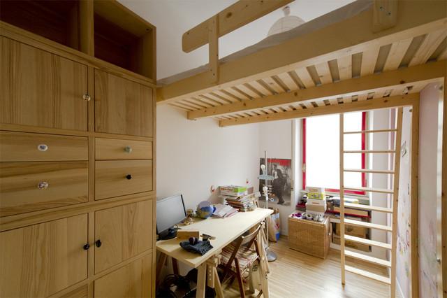 Soppalco legno moderno camera da letto altro di - Camere da letto soppalco ...