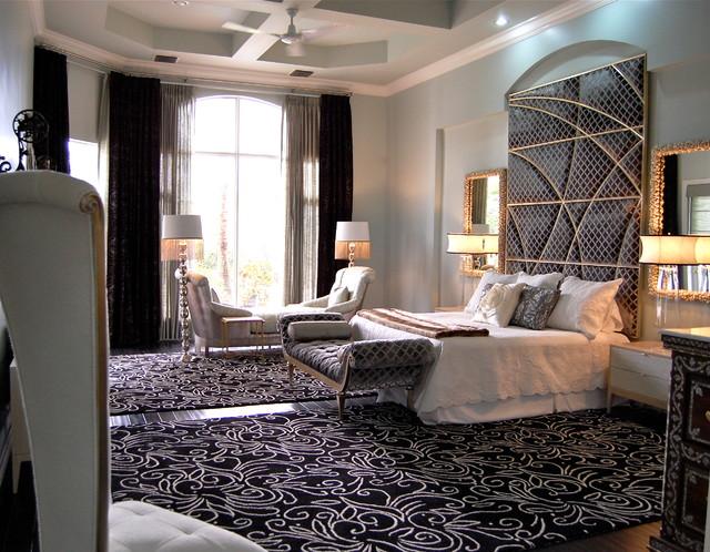 South Florida Family Estate modern-bedroom