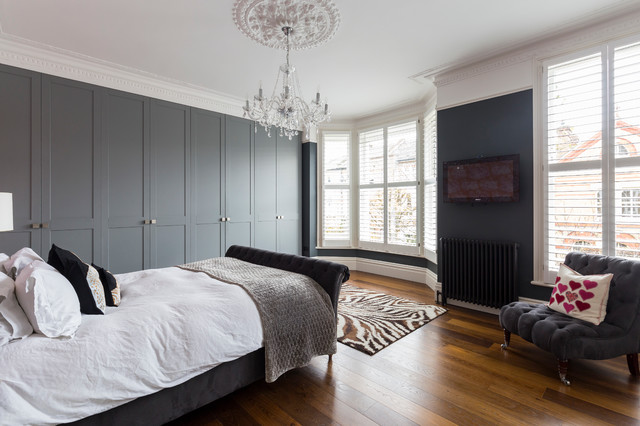 Inspiration for a contemporary bedroom in London.