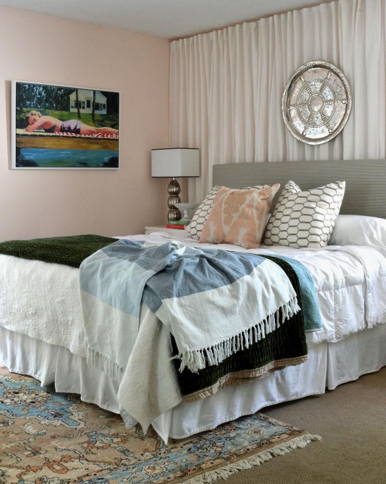 Bedroom - eclectic bedroom idea in Houston