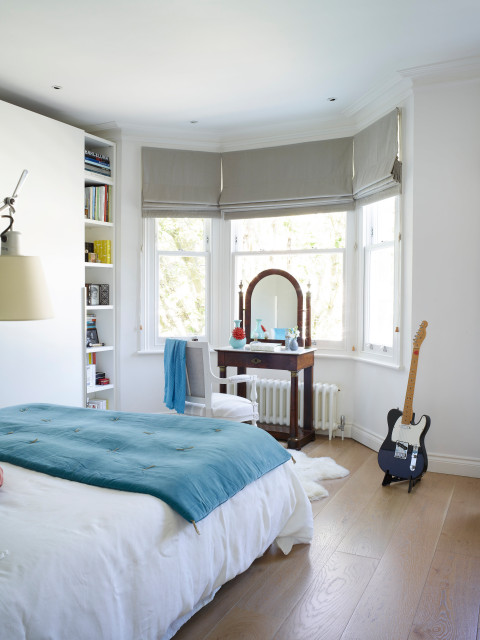 Victorian house in London, Fulham, full refurbishment contemporary-bedroom