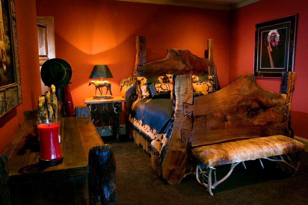 Mountain style bedroom photo in Atlanta