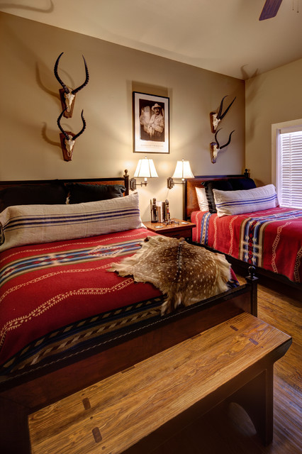 SMR Lodge - Southwestern - Bedroom - Austin - by Mary Collis Interiors