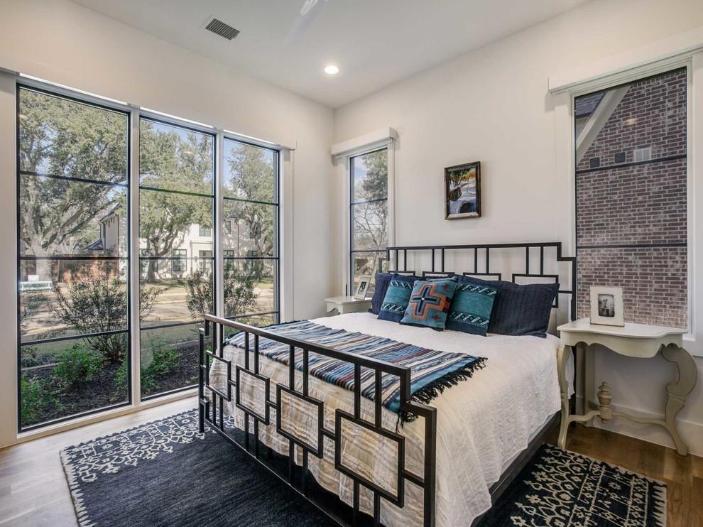 Bedroom - southwestern bedroom idea in Dallas