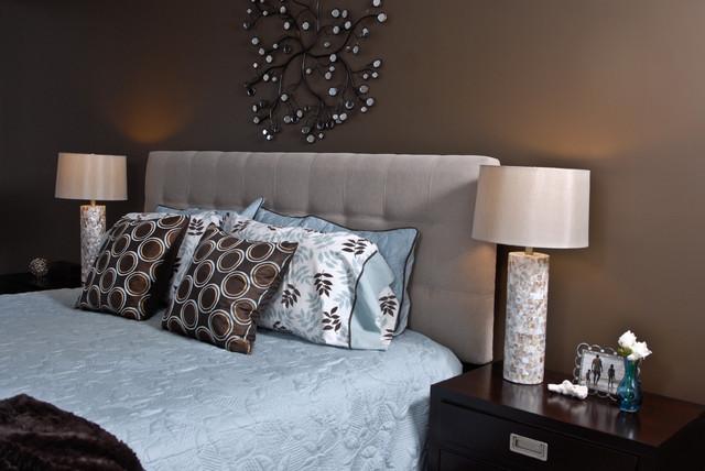 spa inspired bedroom modern bedroom toronto by at home interior design. Black Bedroom Furniture Sets. Home Design Ideas
