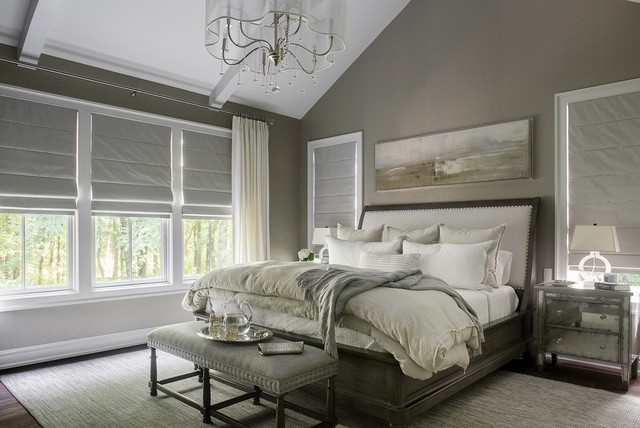 Spa master bedroom transitional bedroom new york by karen b wolf interiors associate asid Master bedroom ideas houzz
