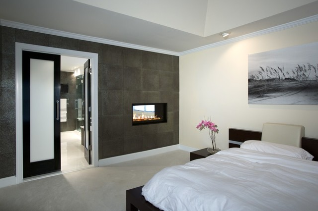 treatment at home with stunning bath and walk in closet modern bedroom