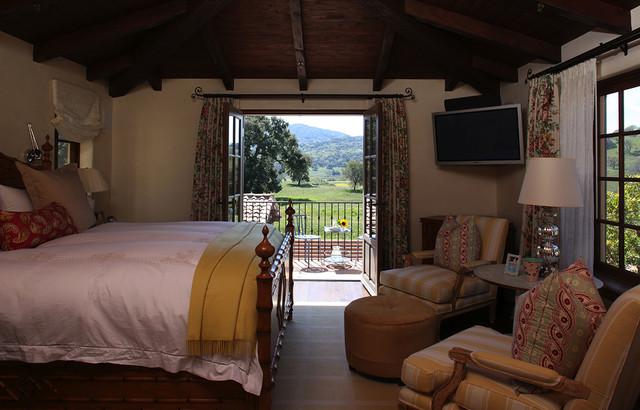 Attractive Spanish Colonial Hacienda, Carmel, California Mediterranean Bedroom