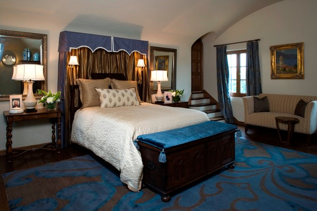 Spanish Colonial Master Suite Traditional Bedroom Los Angeles By The Art Of Room Design