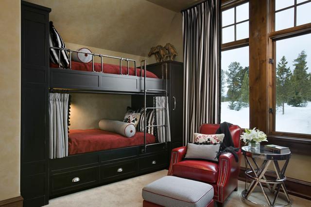 Spanish Peaks Retreat rustic-bedroom