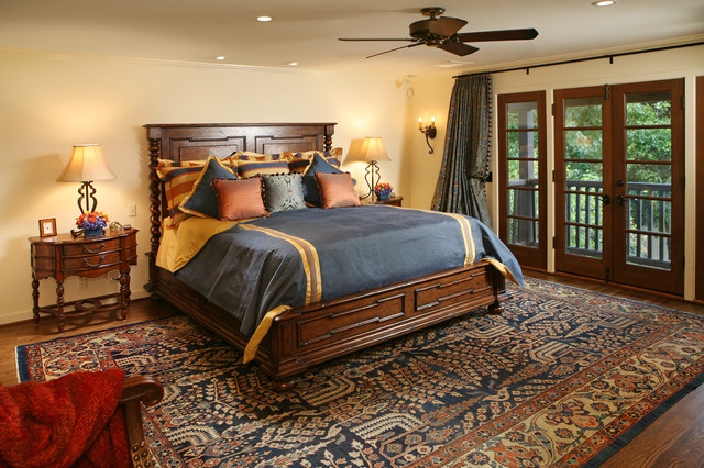 Spanish revival restoration mediterranean bedroom for Mediterranean style bedroom furniture