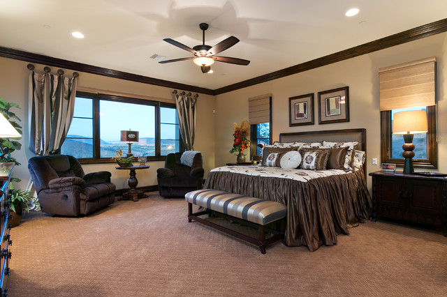 Spanish Style Estate - Master Bedroom - Traditional - Bedroom - San ...