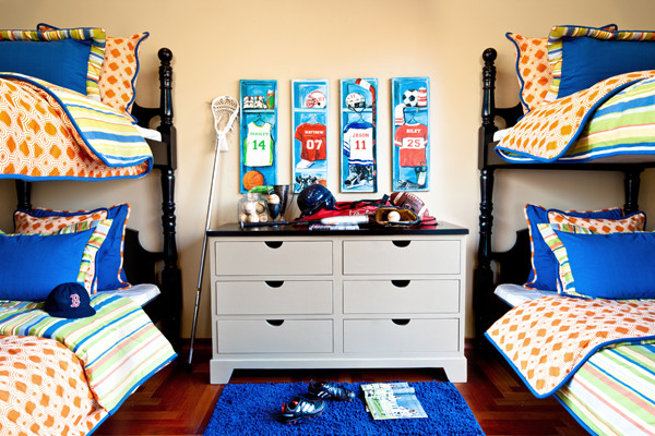 Sports Locker Bedroom Traditional Bedroom