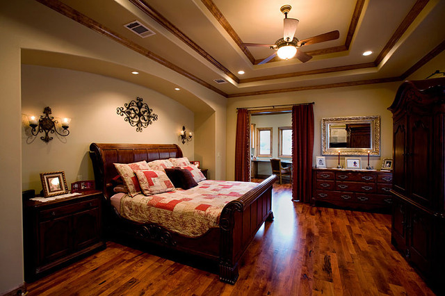 Sprawling Tuscan Ranch Mediterranean Bedroom Austin
