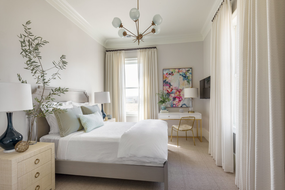 Large transitional bedroom photo in San Francisco