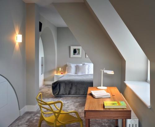 St. Pancras Penthouse Apartment, attic bedrooms