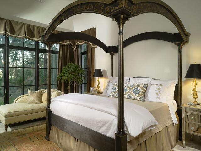 Mediterranean bedroom idea in Atlanta with white walls. Beautiful Beds   Houzz
