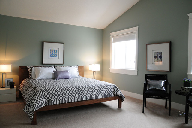 Staging Project House In Marda Loop Area Of Calgary Contemporary Bedroom